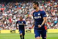 04-10-2015 VOETBAL: AJAX-PSV:AMSTERDAM<br /> Gaston Pereiro van PSV viert zijn doelpunt <br /> <br /> Foto: Geert van Erven