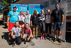 Medal ceremony during the Tennis tournament for amateurs organized by Tenis Slovenija, on September 16, 2018 in Teniski Klub Branik, Maribor, Slovenia. Photo Credit Grega Valancic