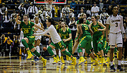 Jan 8 2017 - Berkeley CA, USA - Oregon guard Sabrina Ionescu (20) and teammate celebrate after she hit the winning shot during the NCAA Women's Basketball game between Oregon Ducks and the California Golden Bears 69-66 at Hass Pavilion Berkeley Calif. Thurman James / CSM