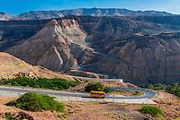 Road from Madaba to Ma'in Hot Springs, Jordan.