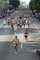 6 March, 2005: The start of the 20th running of the LA Marathon  in Los Angeles, CA..