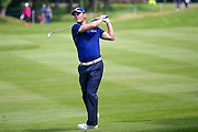 German golf professional Martin Kaymer plays an approach shot during the BMW PGA Championship at the Wentworth Club, Virginia Water, United Kingdom on 28 May 2016. Photo by Simon Davies.