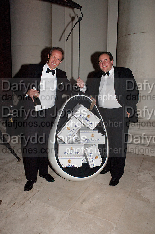 ALAN ARTUS; HUBERT DE BILLY, Charity Dinner in aid of Caring for Courage The Royal Scots Dragoon Guards Afganistan Welfare Appeal. In the presence of the Duke of Kent. The Royal Hospital, Chaelsea. London. 20 October 2011. <br /> <br />  , -DO NOT ARCHIVE-&copy; Copyright Photograph by Dafydd Jones. 248 Clapham Rd. London SW9 0PZ. Tel 0207 820 0771. www.dafjones.com.
