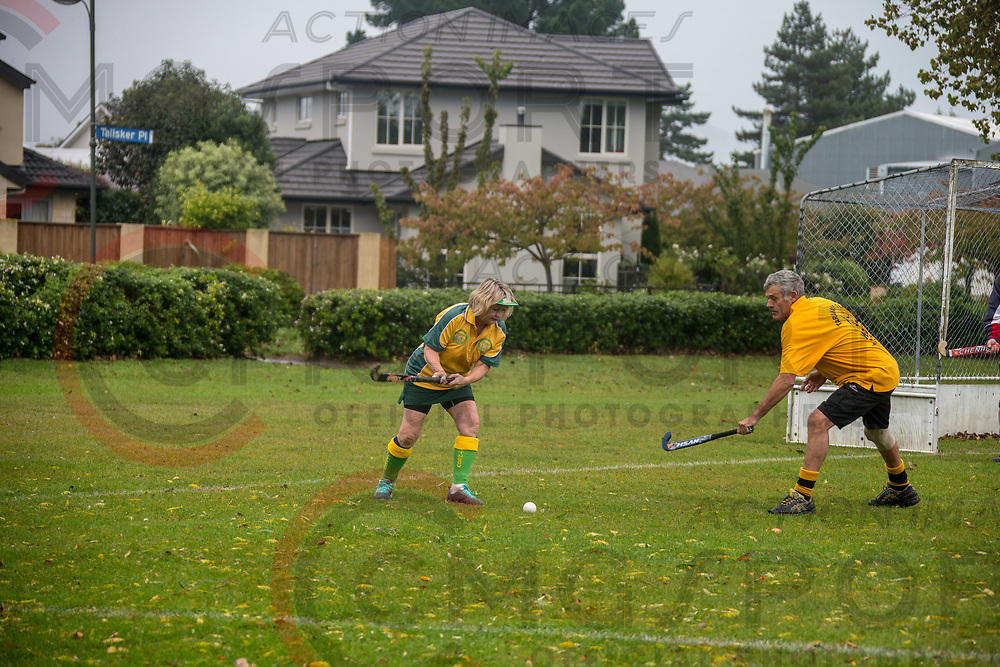 GOLDEN OLDIES FESTIVAL OF SPORT HOCKEY<br /> LITHGOW STEAMERS<br /> 20180416<br /> KEVIN CLARKE<br /> Photo KEVIN CLARKE CMG SPORT ACTION IMAGES<br /> &copy;cmgsport2018