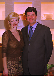 MR & MRS YVES CARCELLE, he is president of Louis Vuitton, at a party in London on 24th February 1998.MFP 4