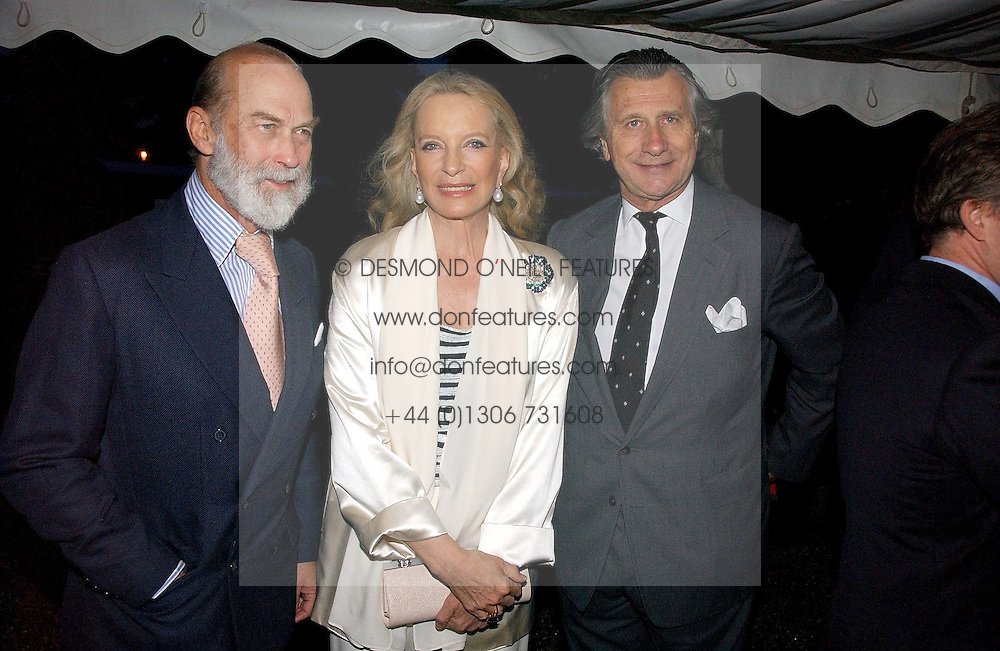 Left to right, TRH PRINCE &amp; PRINCESS MICHAEL OF KENT and ARNAUD BAMBERGER at the annual Chelsea Flower Show dinner hosted by jewellers Cartier at the Chelsea Pysic Garden, London on 22nd May 2006.<br />