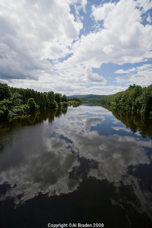 Connecticut River, looking south from the Samuel Morley Bridge, Orford, NH