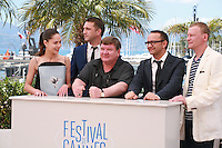 Vladimir Vdovichenkov, Yelena Lyadova, Roman Madyanov, director Andrey Zvyagintsev and Aleksey Serebryakov at the photo call for the film Leviathan at the 67th Cannes Film Festival, Friday 23rd May 2014, Cannes, France.