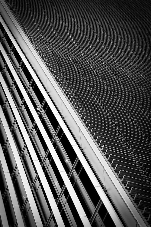 Detail of an office facade in London