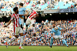 Mame Biram Diouf of Stoke City scores his sides second goal - Mandatory by-line: Matt McNulty/JMP - 14/10/2017 - FOOTBALL - Etihad Stadium - Manchester, England - Manchester City v Stoke City - Premier League