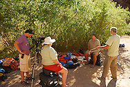 during filming in the Grand Canyon, July 09