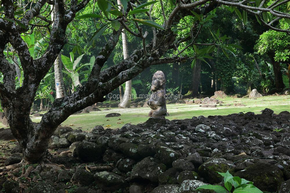 Heiata Tiki Marae Arahurahu Paea Tahiti Society Islands French