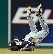 Outfielder Alexei Ramirez makes a diving catch in center field Monday, March 31 at Progressive Field in Cleveland. The Indians defeated the White Sox 10-8.