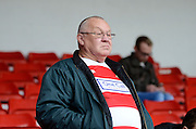 Doncaster fan during the Sky Bet League 1 match between Walsall and Doncaster Rovers at the Banks's Stadium, Walsall, England on 12 September 2015. Photo by Alan Franklin.