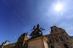 THEMENBILD - Statue von Louis XIV vor dem Louvre, aufgenommen am 09. Juni 2016 in Paris, Frankreich // Statue of Louis XIV in front of the Louvre, Paris, France on 2016/06/09. EXPA Pictures © 2017, PhotoCredit: EXPA/ JFK