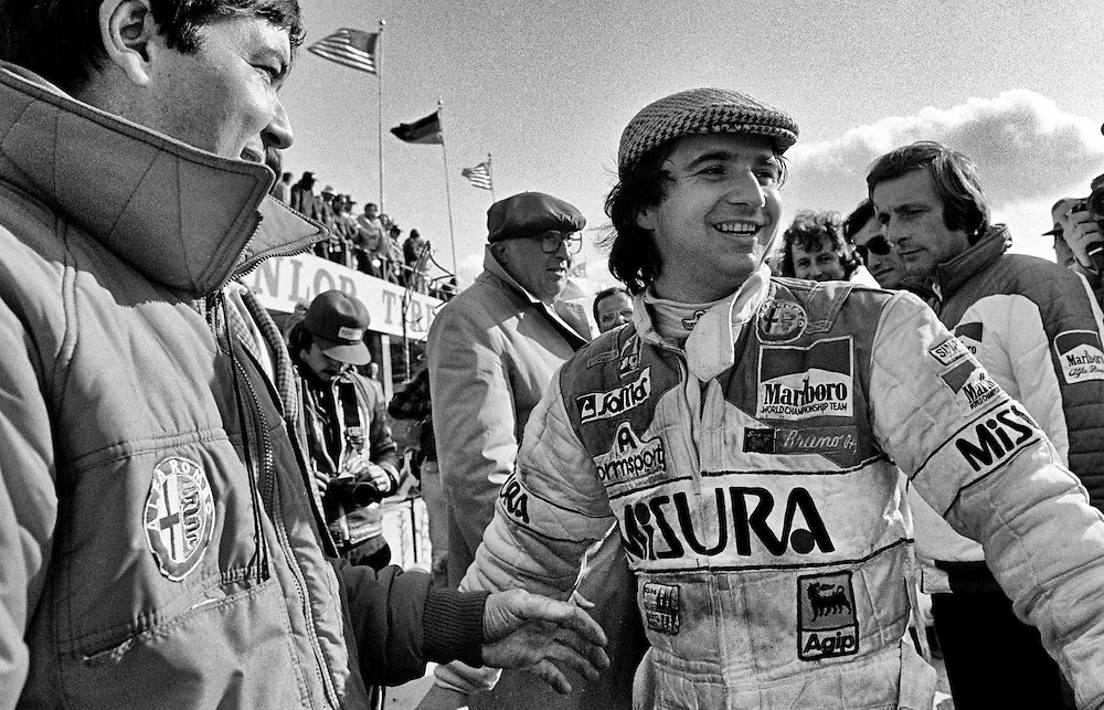 Formula One Marlboro-Alfa Romeo driver Bruno Giacomelli's surprise pole position for the 1980 United States Grand Prix, helped somewhat to restore the team's spirits following the death of French driver and team leader Patrick Depailler while testing the car for the German Grand Prix earlier that summer. Depailler had been rejuvenating the team's racing heritage and Giacomelli had responded with better qualifying performances.<br />