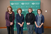 Administrators retiring in 2019 with 30 of More Years of Service (Left to Right) Theresa Ray Thompson, Gwen Whitehead, Anita Jane Leach, and Gillian Berchowitz. Photo by Ben Siegel
