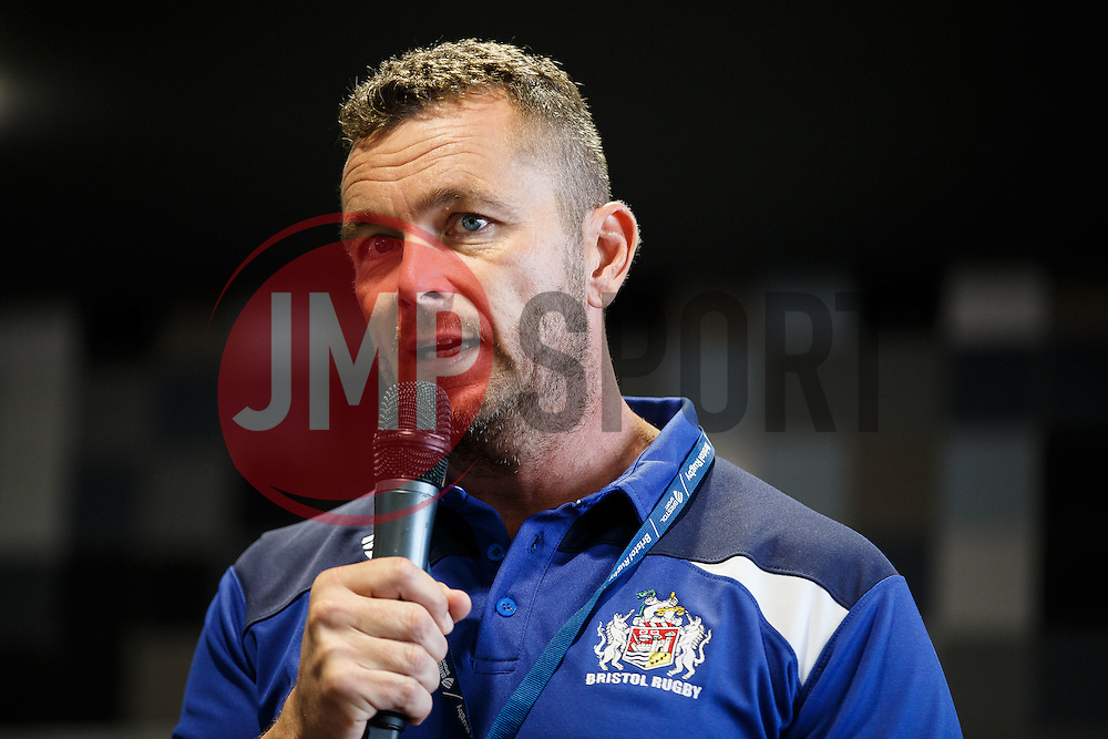 Q&A with Bristol Rugby First Team Coach Sean Holley and Community Foundation CEO Ben Breeze - Mandatory byline: Rogan Thomson/JMP - 07966 386802 - 04/10/2015 - RUGBY UNION - Ashton Gate Stadium - Bristol, England - Bristol Rugby v Rotherham Titans - Greene King IPA Championship.
