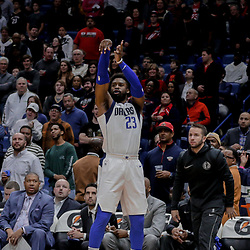 Dec 29, 2017; New Orleans, LA, USA; Dallas Mavericks guard Wesley Matthews (23) shoots against the New Orleans Pelicans during the first quarter at the Smoothie King Center. Mandatory Credit: Derick E. Hingle-USA TODAY Sports