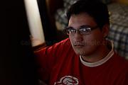 Nelsón Diaz, estudiante de Diseño de Videojuegos en el Instituto Arcos. Santiago de Chile, 02-02-17 (©Alvaro de la Fuente/Triple.cl)