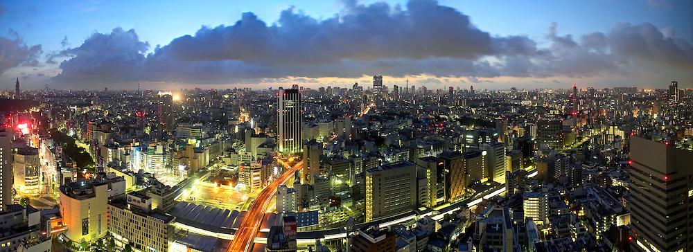 Tokyo at dawn.