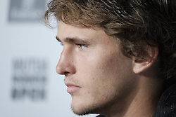 May 14, 2018 - Madrid, Spain - Alexander Zverev of Germany in press conference during day eight of the Mutua Madrid Open tennis tournament at the Caja Magica on May 13, 2018 in Madrid, Spain. (Credit Image: © Oscar Gonzalez/NurPhoto via ZUMA Press)
