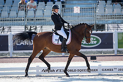 Susanne Jensby Sunesen, (DEN), Thy's Que Faire - Team Competition Grade III Para Dressage - Alltech FEI World Equestrian Games™ 2014 - Normandy, France.<br /> © Hippo Foto Team - Jon Stroud <br /> 25/06/14