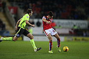 Rotherham United midfielder Joe Newell (22) shoots during the Sky Bet Championship match between Rotherham United and Brighton and Hove Albion at the New York Stadium, Rotherham, England on 12 January 2016.