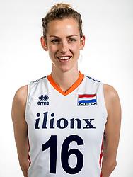 22-05-2017 NED: Nederlands volleybalteam vrouwen, Utrecht<br /> Photoshoot met Oranje vrouwen seizoen 2017 / Debby Stam-Pilon #16