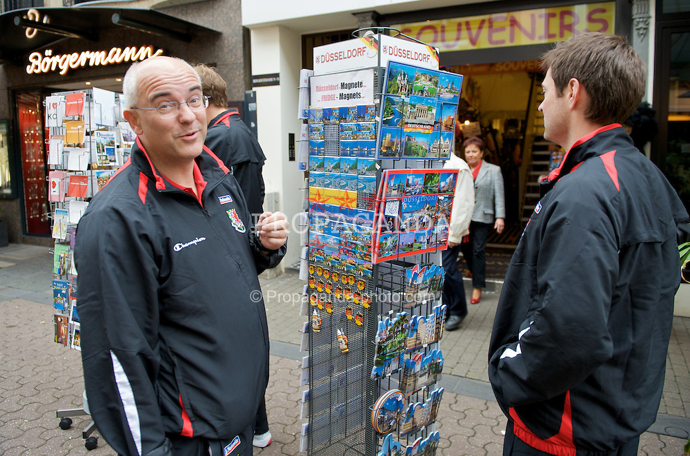 DU?SSELDORF, GERMANY - Wednesday, October 15, 2008: FAW press officer Ceri Stennett in Du?sseldorf ahead of the 2010 FIFA World Cup South Africa Qualifying Group 4 match against Germany. (Photo by David Rawcliffe/Propaganda) (Photo by David Rawcliffe/Propaganda)