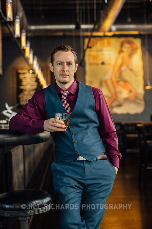Ross Simon of Bitter & Twisted Cocktail Parlor, located at 1 W Jefferson St, Phoenix, AZ 85003