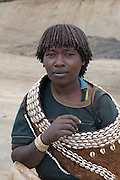 Young tribal woman from the Aari tribe, Omovalley,Ethiopia,Africa