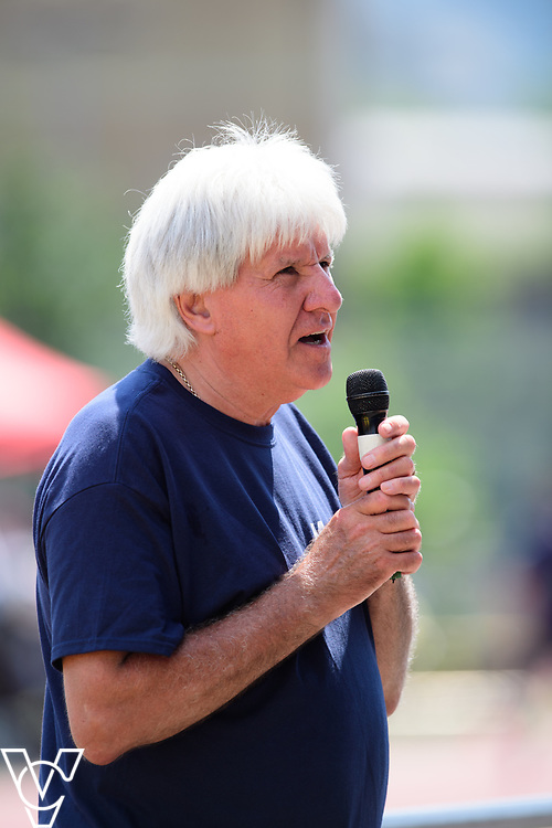Metro Blind Sport's 2017 Athletics Open held at Mile End Stadium.  Roy Smith<br /> <br /> Picture: Chris Vaughan Photography for Metro Blind Sport<br /> Date: June 17, 2017