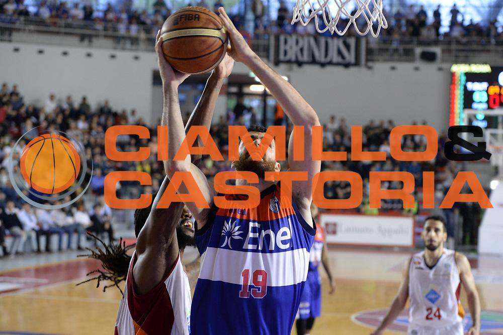 DESCRIZIONE : Roma  Lega A 2014-15 Acea Roma Enel Brindisi <br /> GIOCATORE : Zerini Andrea<br /> CATEGORIA : Tiro<br /> SQUADRA : Enel Brindisi<br /> EVENTO : Campionato Lega A 2014-2015<br /> GARA :Acea Roma Enel Brindisi <br /> DATA : 19/04/2015<br /> SPORT : Pallacanestro<br /> AUTORE : Agenzia Ciamillo-Castoria/M.Longo<br /> Galleria : Lega Basket A 2014-2015<br /> Fotonotizia : Roma  Lega A 2014-15 Acea Roma Enel Brindisi <br /> Predefinita :