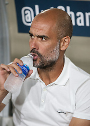 July 26, 2017 - Los Angeles, California, U.S - Coach, Pep Guardiola of Manchester City during their International Champions Cup game with Real Madrid at the Los Angeles Memorial Coliseum in Los Angeles, California on Wednesday July 26, 2017. Manchester City defeats Real Madrid, 4-1. (Credit Image: © Prensa Internacional via ZUMA Wire)