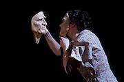 This is the London Premiere of the award winning Translunar Paradise, and an exquisite piece of mask and movement theatre. Patrt of the London International Mime Festival, at The Barbican, London. Piece features George Mann, Deborah Pugh and Kim Heron (accordian).