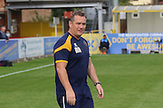 Shrewsbury Town FC manager Micky Mellon during the EFL Sky Bet League 1 match between AFC Wimbledon and Shrewsbury Town at the Cherry Red Records Stadium, Kingston, England on 24 September 2016. Photo by Stuart Butcher.