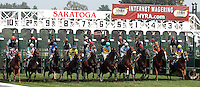 Racing at Saratoga Race Track