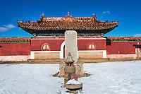 Mongolie, province de Selenge, monastere bouddhiste de Amarbayasgalant en hiver // Mongolia, Selenge province, the buddhist monastery of Amarbayasgalant in winter