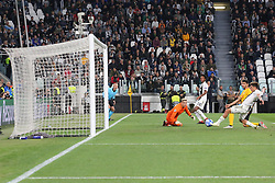 October 2, 2018 - Turin, Piedmont, Italy - Paulo Dybala (Juventus FC)  scores his third goal during the Juventus FC UEFA Champions League match between Juventus FC and Berner Sport Club Young Boys at Allianz Stadium on October 02, 2018 in Turin, Italy..Juventus won 3-0 over Young Boys. (Credit Image: © Massimiliano Ferraro/NurPhoto/ZUMA Press)