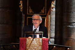 Astronomer Royal Martin Rees speaking at the memorial service for Professor Stephen Hawking, at Westminster Abbey, London.