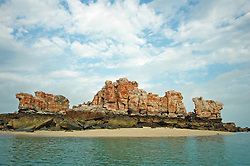 Bumpus Island in Camden Sound is a rocky outcrop surrounded by a small beach.  The island offers a good vantage point for observing whales.