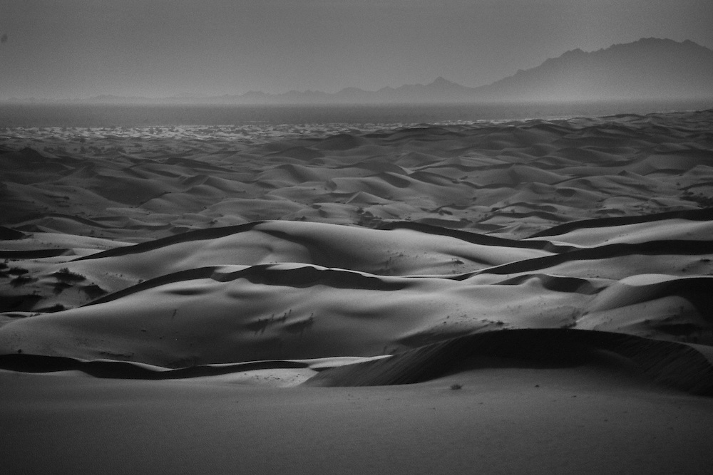 The Glamis sand dunes, in Southern California.