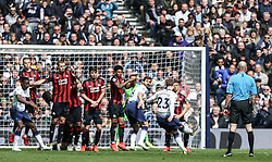 Christian Eriksen of Tottenham Hotspur takes a free kick - Mandatory by-line: Arron Gent/JMP - 13/04/2019 - FOOTBALL - White Hart Lane - London, England - Tottenham Hotspur v Huddersfield Town - Premier League