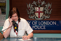 Front desk of Bishopsgate Police Station, City of London
