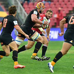 Johannesburg, SOUTH AFRICA, 21, MAY 2016 - during the Super Rugby match between Emirates Lions vs Jaguares ,Emirates Airlines Park,Johannesburg. <br /> Tomás Lavanini of the Jaguares on the attack. <br /> <br /> South Africa. (Photographer Christiaan Kotze ) -- (Steve Haag Sports) <br /> <br /> Images for social media must have consent from Steve Haag