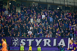 MARIBOR, SLOVENIA - Tuesday, October 17, 2017: NK Maribor supporters during the UEFA Champions League Group E match between NK Maribor and Liverpool at the Stadion Ljudski vrt. (Pic by David Rawcliffe/Propaganda)