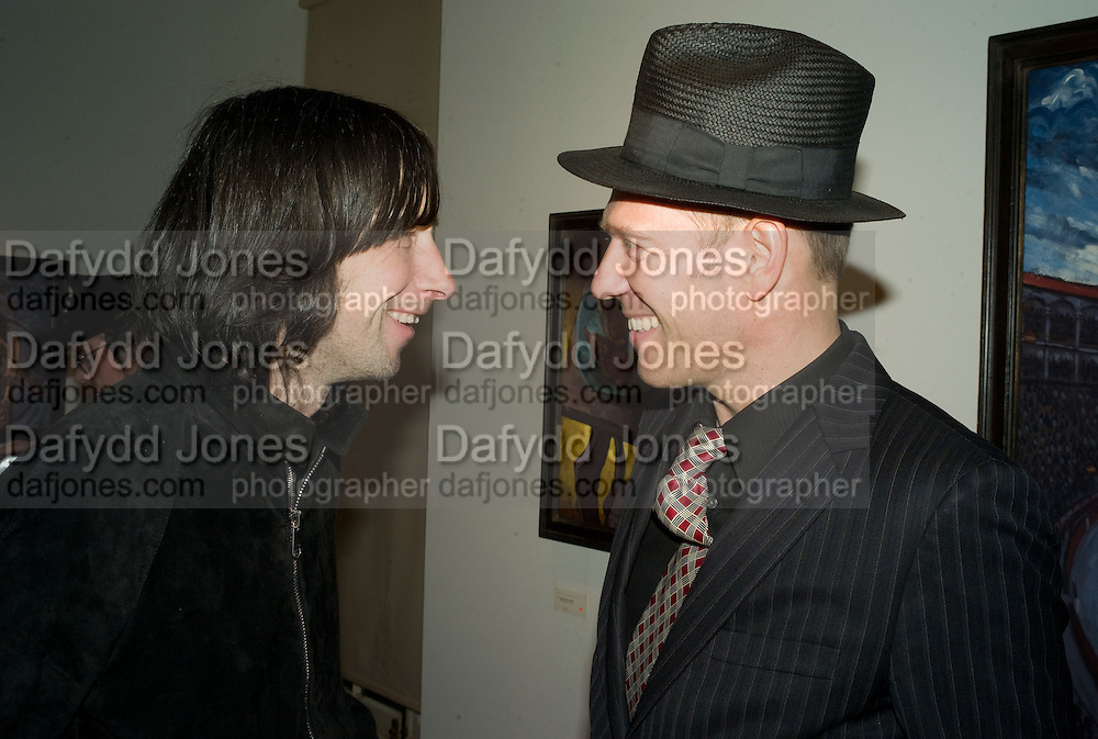 BOBBY GILLESPIE AND  AND PAUL SIMONON, Paul Simonon  *** Local Caption *** -DO NOT ARCHIVE-© Copyright Photograph by Dafydd Jones. 248 Clapham Rd. London SW9 0PZ. Tel 0207 820 0771. www.dafjones.com.