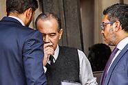 Jose Coya en el Juzgado por tarjetas corporativa de ANCAP
