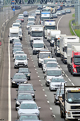 © Licensed to London News Pictures.25/05/2018<br /> DARTFORD, UK.<br /> May Bank Holiday traffic madness has started.<br /> Bank Holiday getaway traffic chaos on the M25 in Dartford, Kent.  Anti-Clockwise towards Essex.<br /> Photo credit:Grant Falvey/LNP